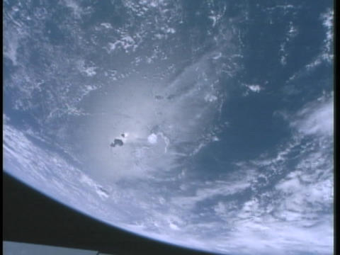 The Earth spins on its axis Footage