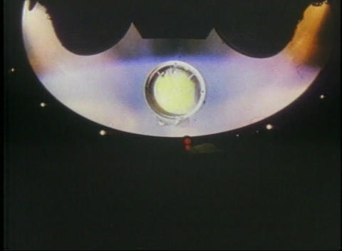 Long-shot of the first section of rocket separating and... Stock Video Footage