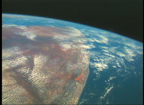 Aerial view of Earth from space Footage