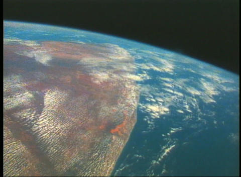 Aerial view of Earth from space Stock Video Footage