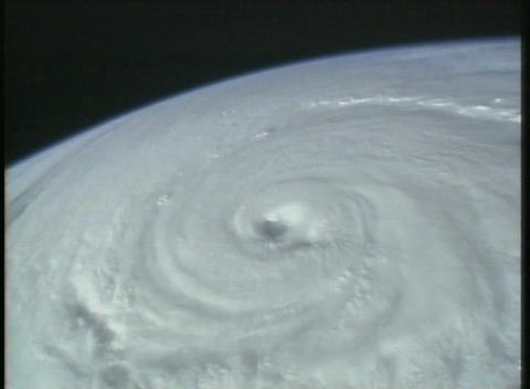 Aerial Satellite Image Of A Hurricane Cyclone On Earth stock footage