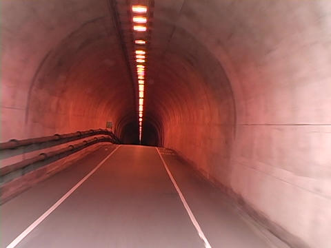 A car drives through a tunnel Stock Video Footage