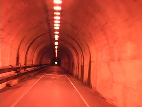 A car drives through a tunnel Footage