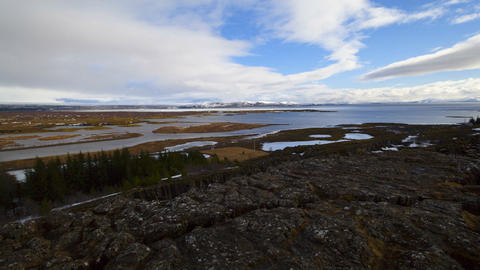 Time lapse of lake Pingvallavatn in Iceland Footage