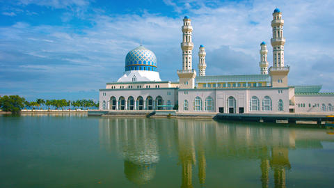 Famous Kota Kinabalu City Mosque in Malaysia Footage