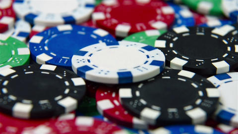 poker chips Footage