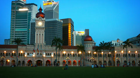 Sultan Abdul Samad Building on Merdeka Square. with Contemporary Commercial Offi Footage