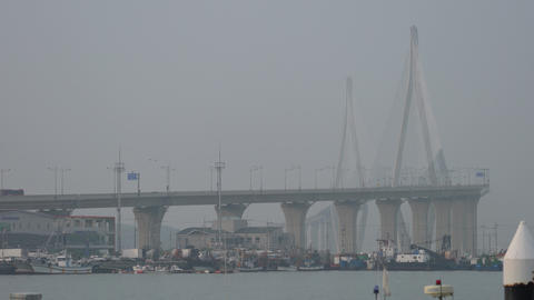 mokpo large bridge Footage