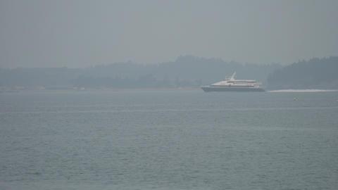 coastal liner crossing cruise ship Footage