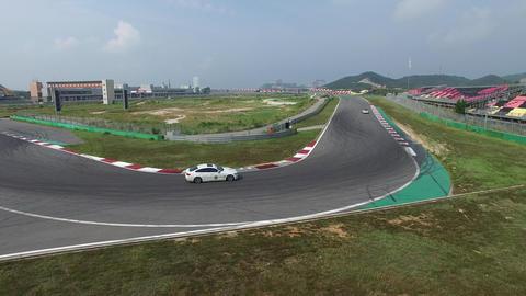 F1 track curve Footage
