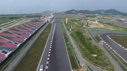 F1 track dolly out Footage