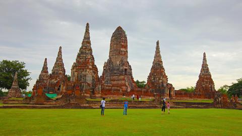Wat Chaiwatthanaram Buddhist temple. Ayutthaya. Thailand Footage