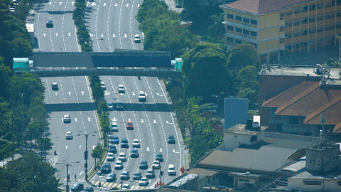view from Kuala Lumpur Tower (Menara Kuala Lumpur) Footage