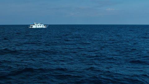 Tour Boat Traversing a Tropical Seascape Footage