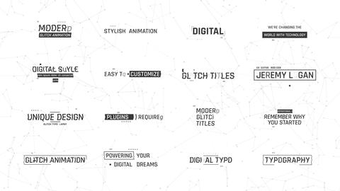 Digital Glitch Titles Motion Graphics Template
