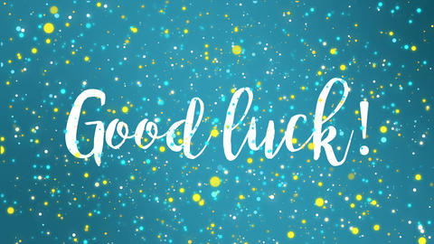 Good luck animated greeting card Animation