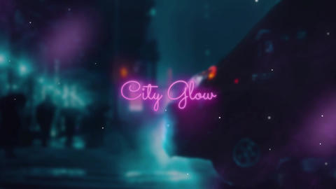 Neon Typography Premiere Pro Template
