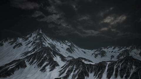 Mountains in Evening Cloudy Sky Live Action