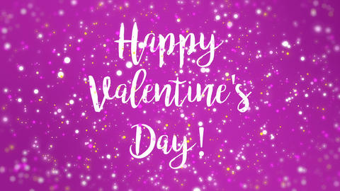 Animated purple pink Happy Valentine's Day greeting card Animation