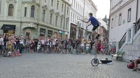 A foot street in Ljiubljana Live Action