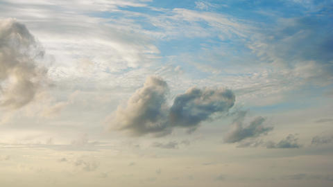 Beautiful. Timelapse Shot of Fluffy Clouds Streaming across the Sky Footage