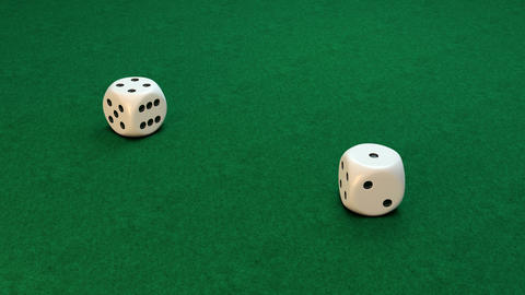 White dice rolling Animation