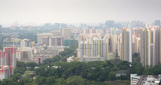 Cityscape with attractive. modern. highrise residential structures Footage