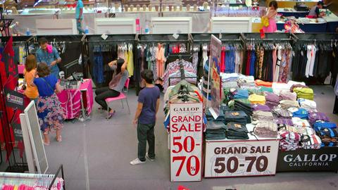 Big sale in the atrium of Jungceylon Shopping Mall in central Patong Footage