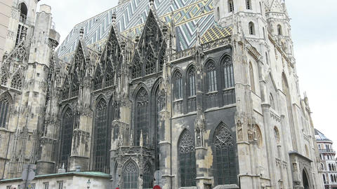 St. Stephan cathedral in Vienna Footage