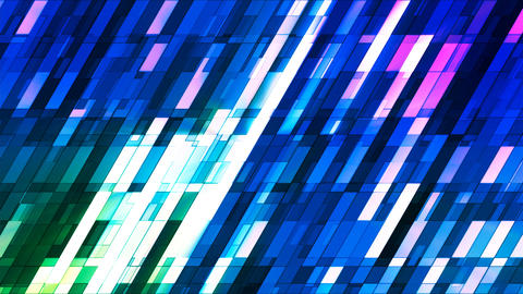 Broadcast Twinkling Slant Hi-Tech Small Bars, Blue, Abstract, Loopable, 4K Animation
