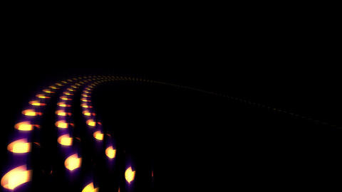 4K Background golden dots circle loop Stock Video Footage