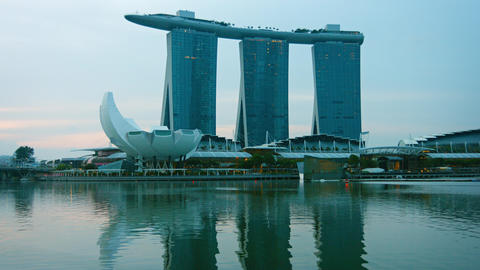 Marina Bay Sands. an intigrated resort and major tourist attraction Live Action