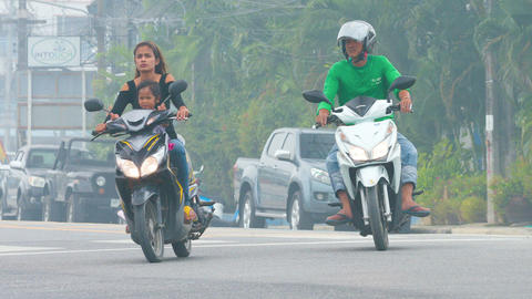 Indonesia fires causing smog in Thailand south areas Live Action