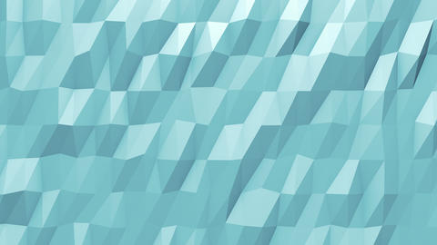 Blue Flowing Polygonal Animated Background CG動画