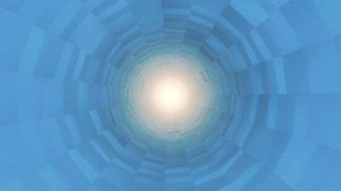 Blue Rotating Polygonal Tunnel CG動画