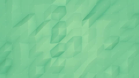 Green Flowing Polygonal Animated Background CG動画