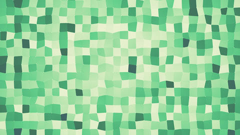 Green Flowing Squared Polygonal Background CG動画