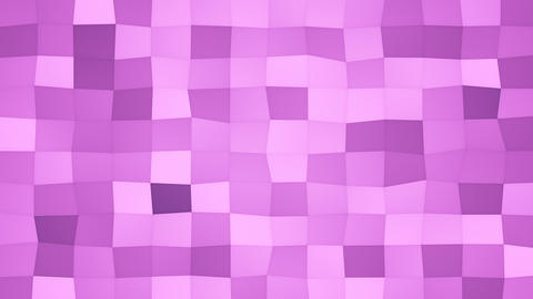 Pink Flowing Squared Polygonal Animated Background CG動画