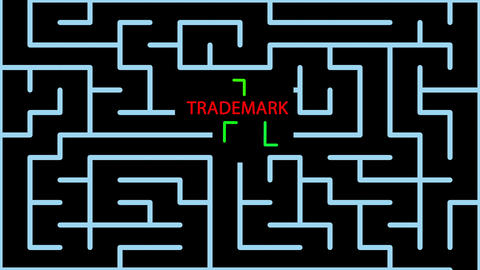 animation of Maze With red text and green lines and possible Solution -TRADEMARK Animation