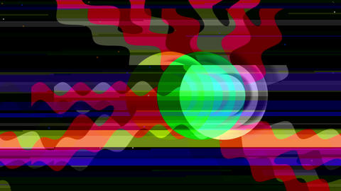 2d flat yellow Abstract Tech Geometric Video Animation with glitch effect Animation