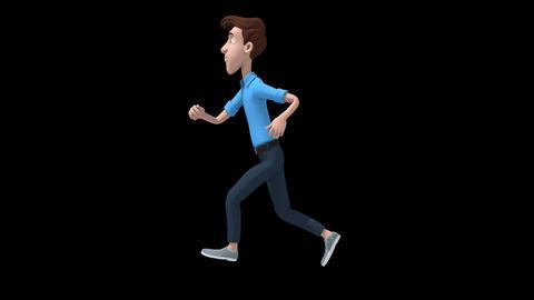 Cartoon Man Running GIF