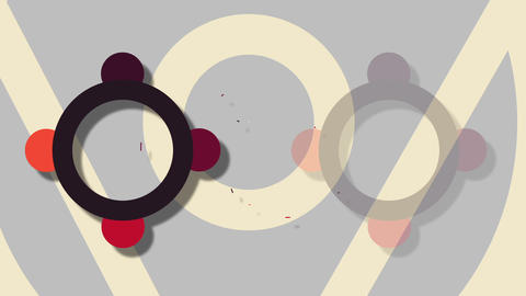 Simple 2d flat Abstract Background With Trendy Geometric Elements Animation