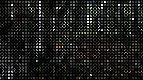 Abstract Set Of Different Rounds And Dots Glitter Texture Animation Animation