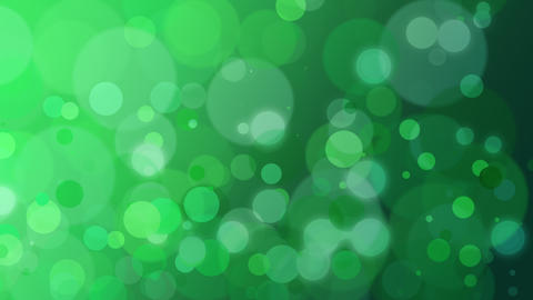 Abstract green bokeh and particles falling, holiday background Animation