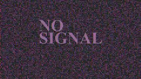 No signal, message with noise effect. Abstract Digital Animation Pixel Noise Glitch Error Video Animation