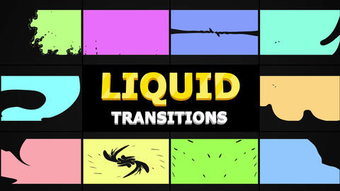 Smooth Liquid Transitions After Effects Template