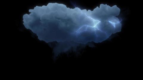 雷 雲 ライトニング バチバチ スパーク エフェクト ループ CG動画