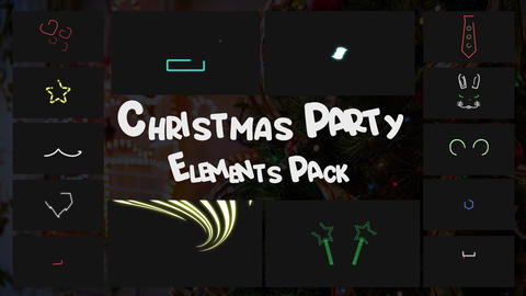 Christmas Party Elements Pack Apple Motion Template