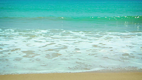 Gentle Waves Wash a Pristine Tropical Beach Footage