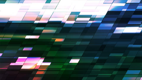 Twinkling Horizontal Slant Hi-Tech Small Bars, Multi Color, Abstract, Loop, 4K Animation